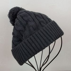 Cotton On Cable Knit Pom Pom Beanie